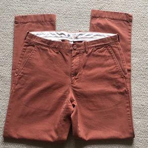 J. Crew, Men's pants, burnt orange colored, 32x32